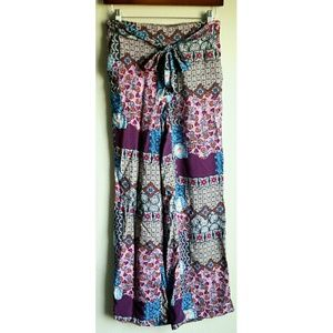 New Look Pink Palazzo Pants Trousers Size Small
